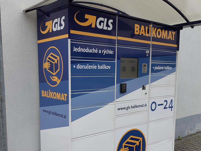 Polep balíkomatov pre GLS