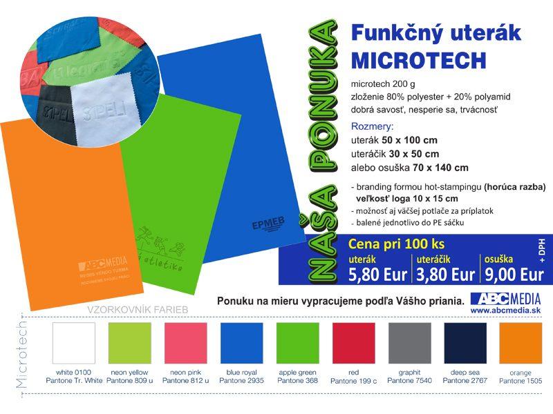 Ponuka uterákov MICROTECH